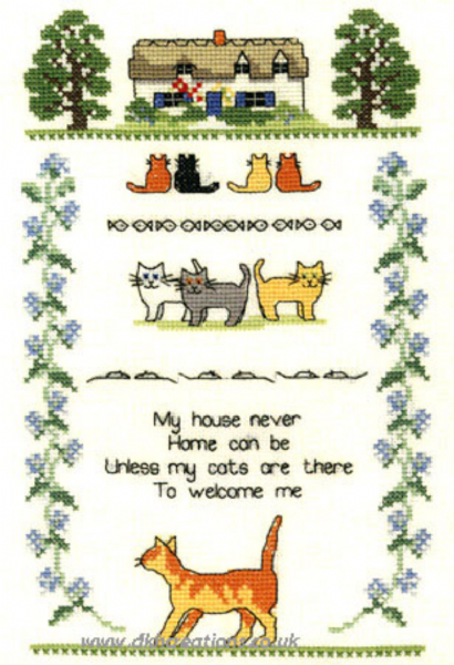 Cat Sampler Cross Stitch Kit